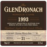 Glendronach 1993 21YO Cask #35 per Beija-Flor e Silver Seal